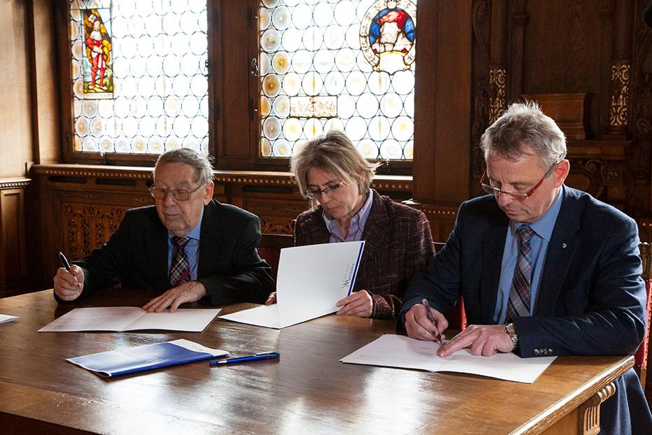 v.l.n.r.: Klaus Zschiegner, Daniela Ott-Wippern und Wolfram Schlegel, Foto: Michelle Matuszczak